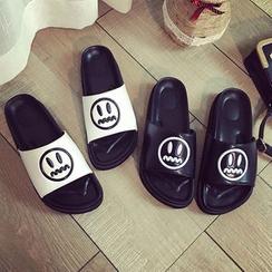 Laceuplux - 笑臉拖鞋