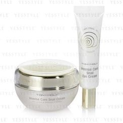 Tony Moly - Intense Care Snail Cream Set:(2 Items) Cream 45ml + Eye Cream 15ml
