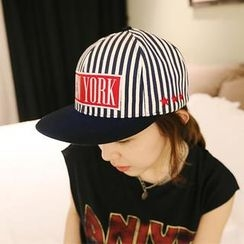 NANING9 - Appliqué-Accent Striped Cap