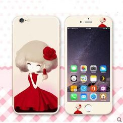 Kindtoy - iPhone 6 / 6 Plus 女孩印花保護膜 ( 前後)