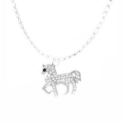 Glamagem - 12 Zodiac Collection - White Horse With Bracelet