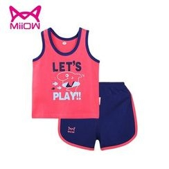 MiiOW - Kids Set: Printed Tank Top + Shorts