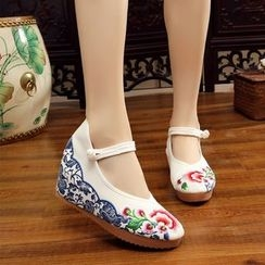 Diosa - Hidden Wedge Embroidered Dance Shoes