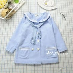 flaneur - Sailor Collar Double-Breasted Jacket