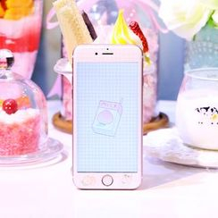 Sea Girl - Peach Print iPhone 6 / 6S / 6 Plus / 6S Plus Screen Protective Film
