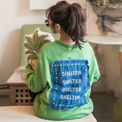 Tulander - Letter Embroidered Applique Pullover
