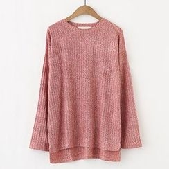 Meimei - Melange Ribbed Sweater