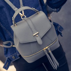 Nautilus Bags - Faux Leather Convertible Backpack