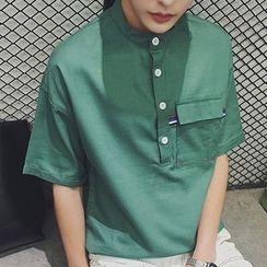 NINETTE - Elbow-Sleeve Polo Shirt
