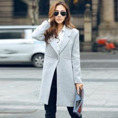 Amella - Single-Button Long Coat