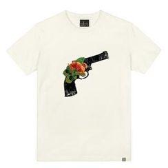the shirts - Flower-Gun Print T-Shirt