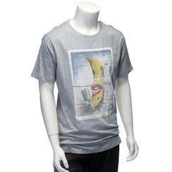 YesStyle M - 短袖香蕉印花 T 恤