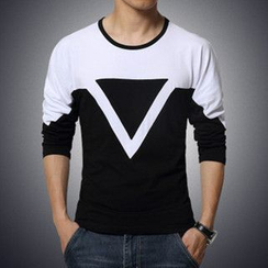 Alvicio - Two-Tone Long-Sleeve T-Shirt