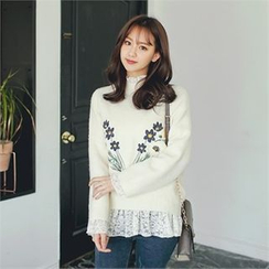 Styleberry - Embroidered Floral Sweater