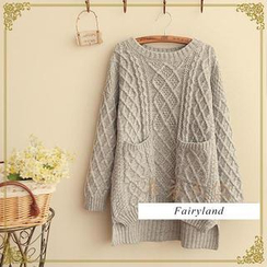 Fairyland - Cable-Knit Drop-Shoulder Sweater