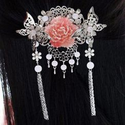 Paparazzi - Flower Dangling Hair Clip