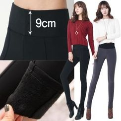 Stylementor - Banded-Waist Brushed-Fleece Lined Leggings