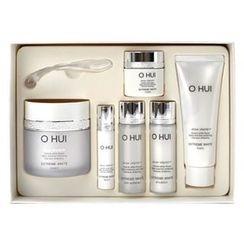 O HUI - Extreme White Special Set : Cream 50ml + Toner 20ml + Emulsion 20ml + Serum 3ml + Cream 7ml + Foam 40ml
