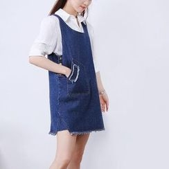 X:Y - Denim Jumper Skirt