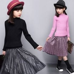 Pegasus - Kids Set : Knit Top + Accordion Skirt