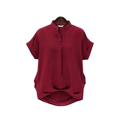 GRACI - Short-Sleeve Plain Blouse