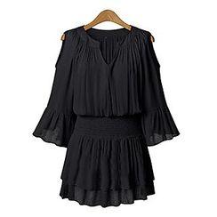 Chika - 露肩開領連衣裙