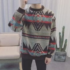 Soulcity - Patterned Pullover