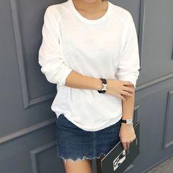 DANI LOVE - Round-Neck Cuffed-Sleeve T-Shirt