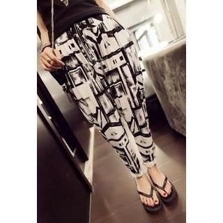 QZ Lady - Patterned Harem Pants