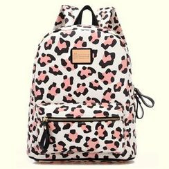 BeiBaoBao - Leopard-Print Backpack