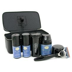 The Art Of Shaving - Travel Kit (Lavender): Razor+ Shaving Brush+ Pre-Shave Oil 30ml+ Shaving Cream 50ml+ A/S Balm 30ml+ Case