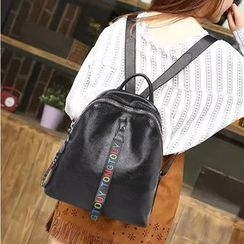 AIDO - Letter Genuine Leather Backpack