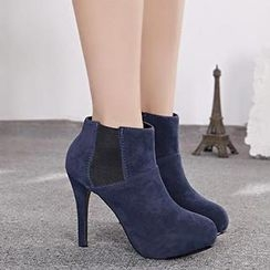 Mancienne - Panel Heel Shoe Boots