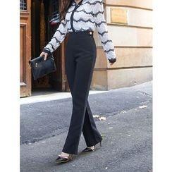 GUMZZI - Straight-Cut Dress Pants