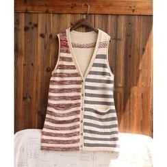 tete - Striped Knit Vest