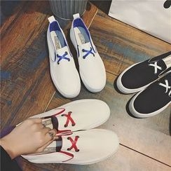 Hipsole - Contrast Color Slip-On Sneakers