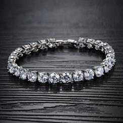 Creole - Rhinestone Bracelet