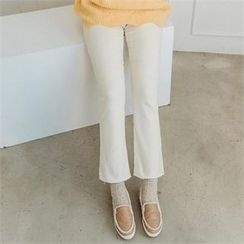 JOAMOM - Band-Waist Boot-Cut Pants