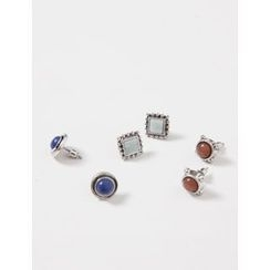FROMBEGINNING - Set of 3: Stud Earrings