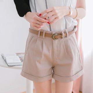Tokyo Fashion - High-Waist Cuffed Shorts