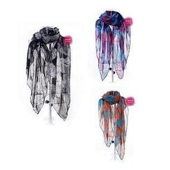 GreatMay - Flower Print Scarf