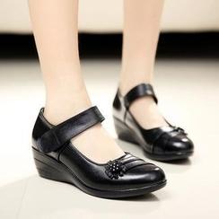 Hannah - 真皮瑪莉珍船跟鞋