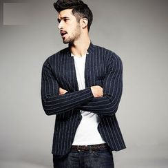 Quincy King - Slim-Fit Striped Blazer