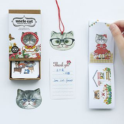Class 302 - Cat Printed Set : Bookmark + Stickers + Name Card