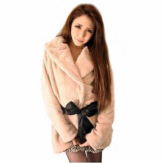 GOLDS infinity - Tie-Waist Faux Fur Coat