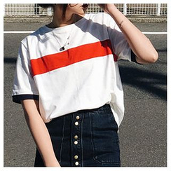 MISS YOYO - Stripe Short-Sleeve T-shirt
