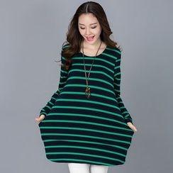 Eloqueen - Striped T-Shirt Dress