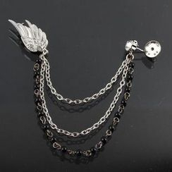 Trend Cool - Rhinestone Wing Multi-Chain Brooch