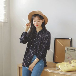 JUSTONE - Long-Sleeve Dotted Shirt