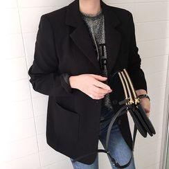 DISCOSALON - Single-Breasted Pocket-Detail Jacket